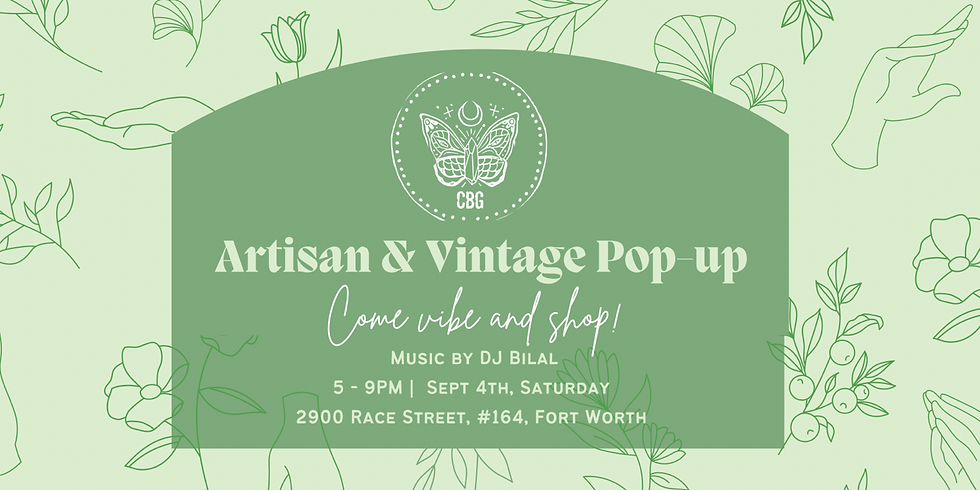 Artisan and Vintage Pop-Up Event