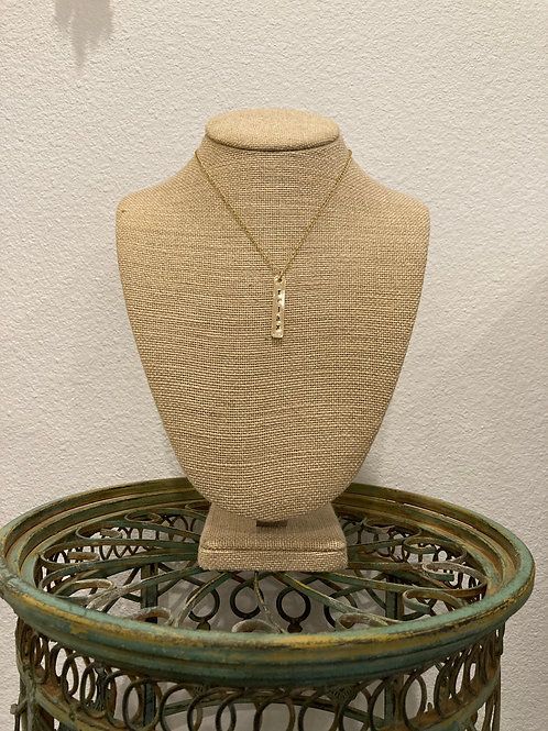 Relax Metal Stamped Necklace
