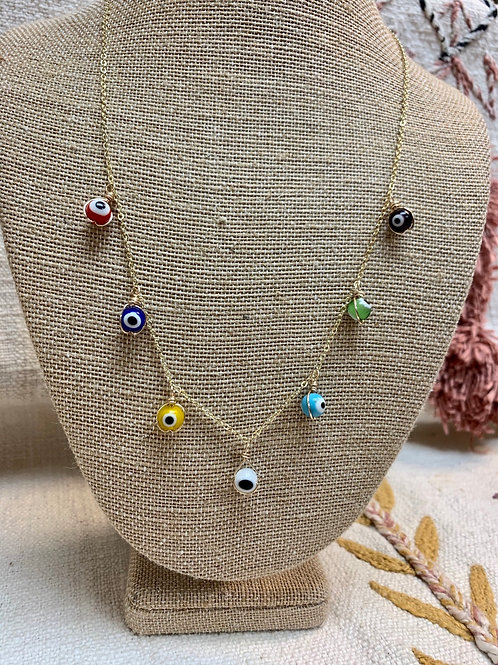 Evil Eye 14kt Gold Plated Necklace or Choker