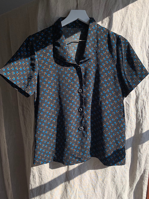 Handmade Vintage Cropped Button Down | Size S