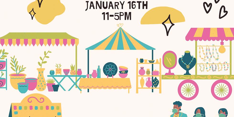 Artisan & Vintage Popup, January 16th, 11-5pm