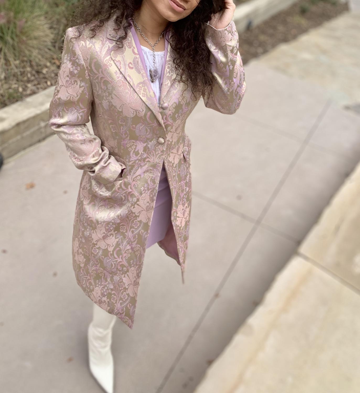 Thumbnail: Jacquard Jacket and Skirt | Size 8