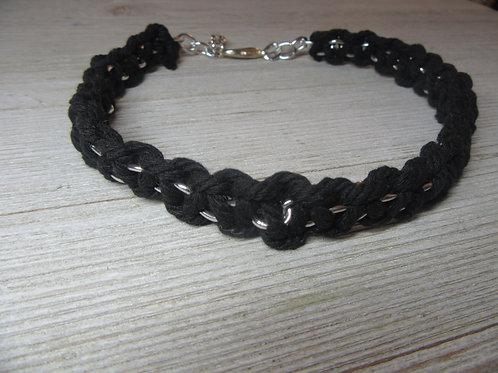 Black Macrame Cord Choker