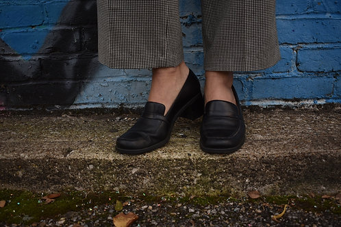 Black Chubky Heel Loafers | Size 7 1/2