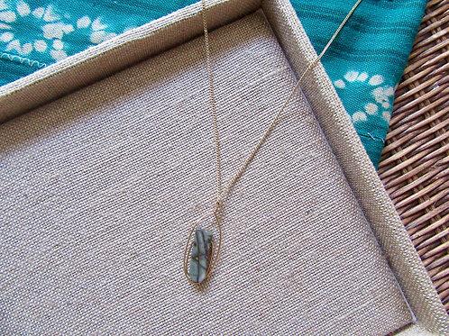 Red Creek Jasper Gold Necklace