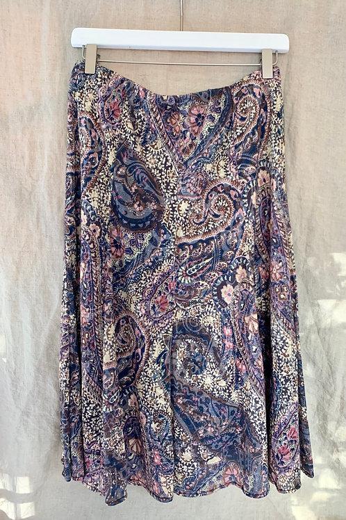 Vintage Paisley Print Skirt | Size S
