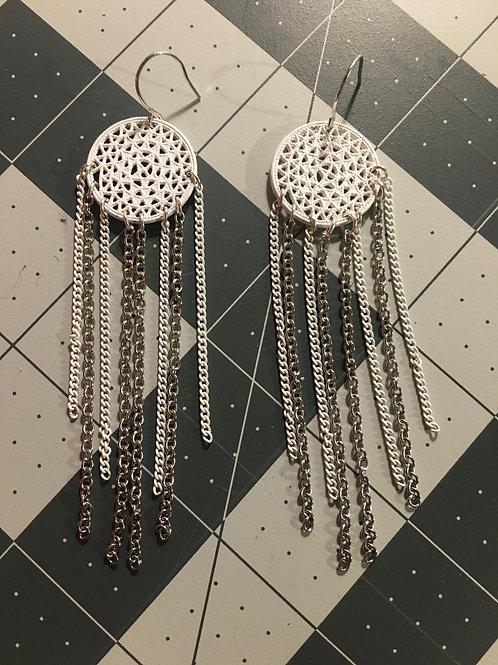 Modern dream catcher earrings