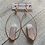 Thumbnail: Rose Quartz Rose Gold Hoop Earrings