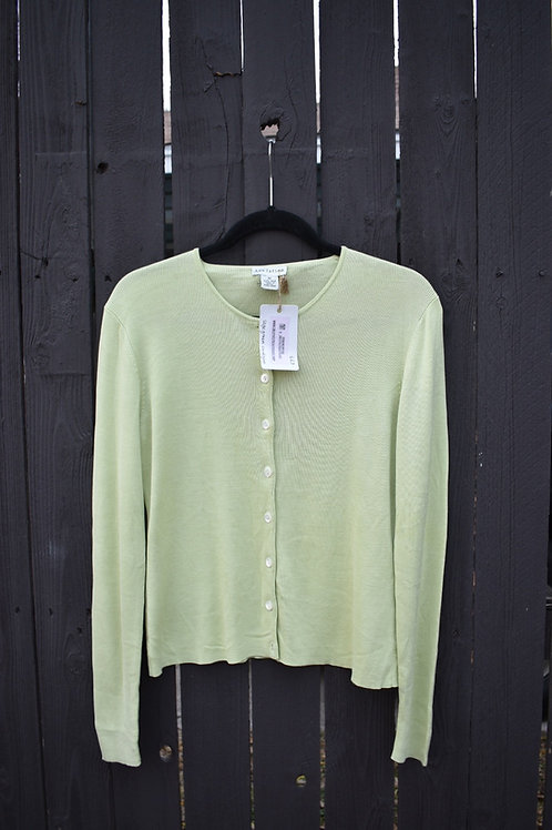 Like Green 100% Silk Cardigan