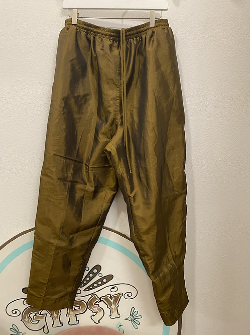 Metallic Bronze Windbreaker Pants