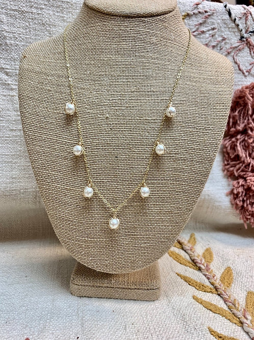 Faux Pearl 14kt Gold Plated Necklace or Choker