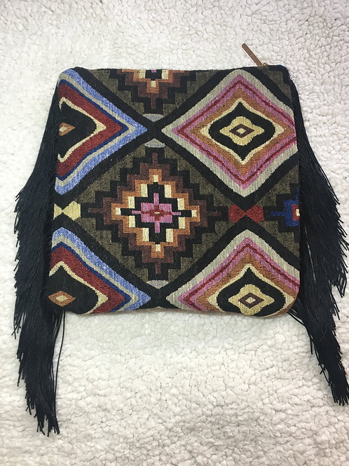 Earthy Tribe Fringe Clutch