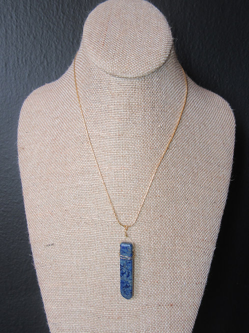 Sodalite 14k Gold Plated Necklace