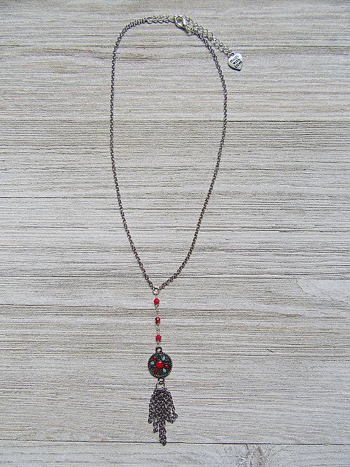 Flower Charm Dangle Necklace