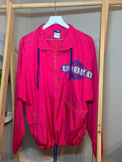 80s Hot Pink Umbro Windbreaker