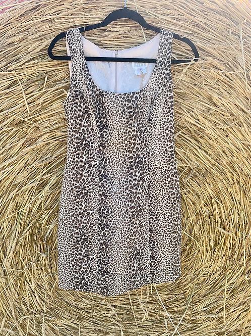 Mini Cheetah Print Dress   Size 6 ( S )