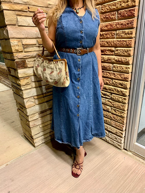 Vintage Denim Jean Dress | Size 14 (L)