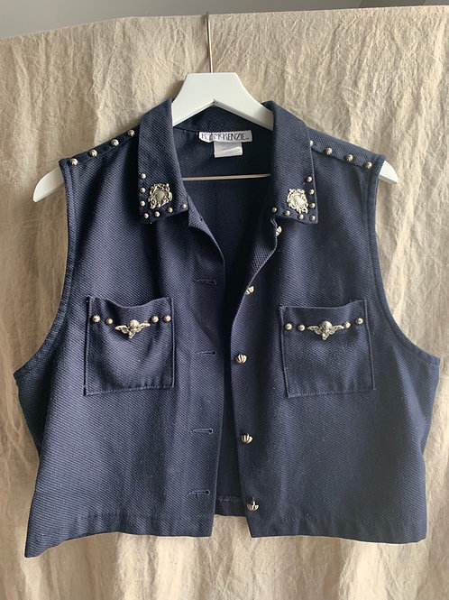 Vintage Navy Angel Vest | Size Boy's 12-14