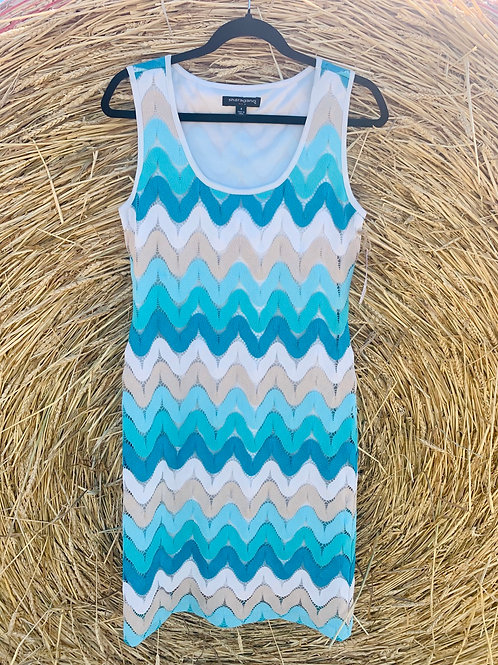 Vintage Zig Zag Lacey Dress | Size 8 ( M )