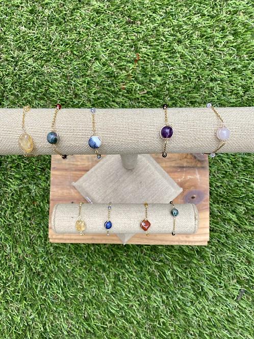 Crystal Bead Bracelet (Ankle bracelet option available)