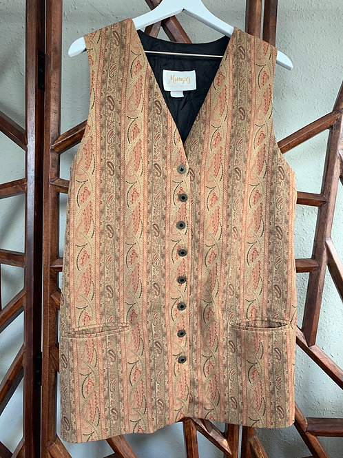 Vintage Paisley Vest Dress | Size M