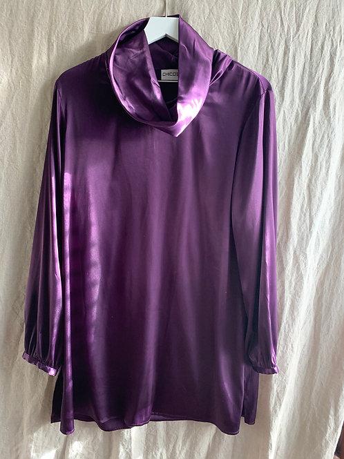 Chico's Satin Purple Dress