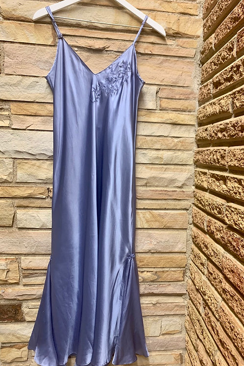 Periwinkle Satin Dress | Size M