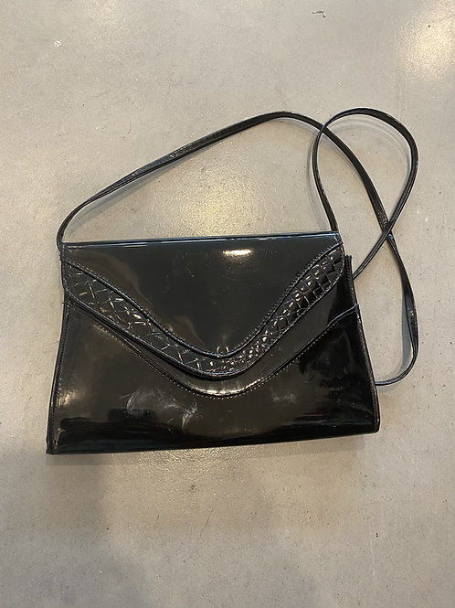 Black Patent Leather Crossbody