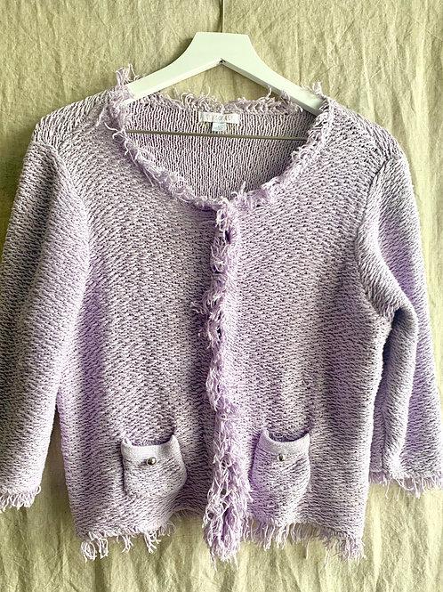 Vintage Lavendar Cardigan | Size L