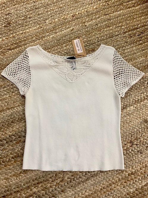 White Crochet Top | Size S
