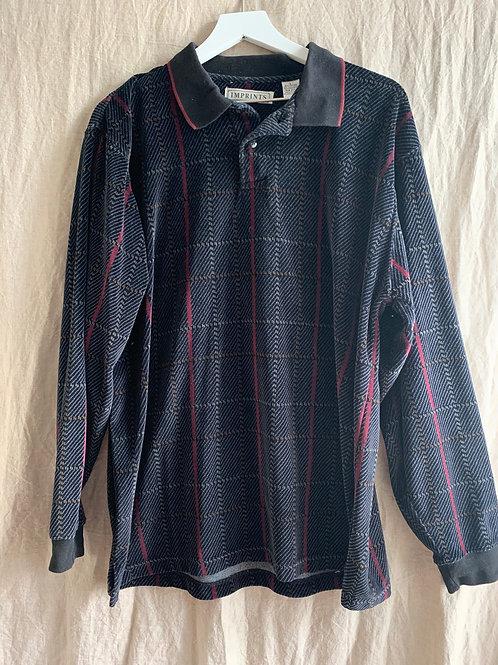 Men's Velvet Plaid Shirt | Size L