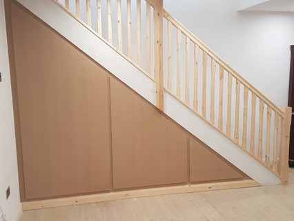 Bannister and panelling