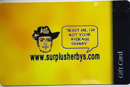 Surplus Herbys Gift Cards