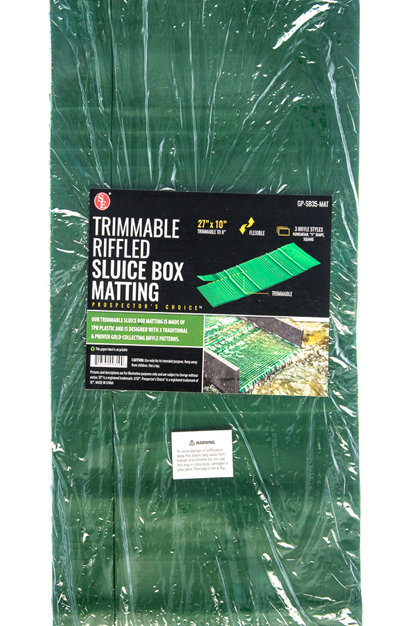Trimmable Riffled Sluice Box Matting
