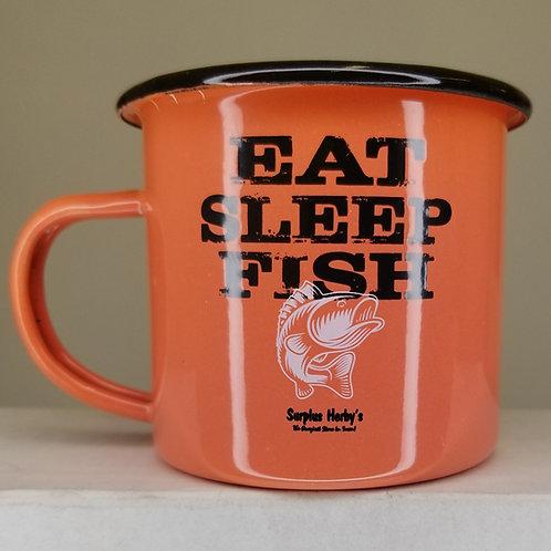 Enamel Mug Eat Sleep Fish