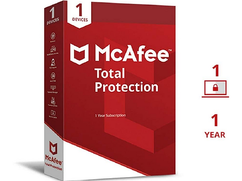 McAfee Total Protection 1 Year Subscription
