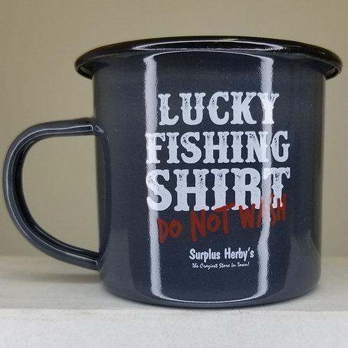 Enamel Mug Lucky Fishing Shirt