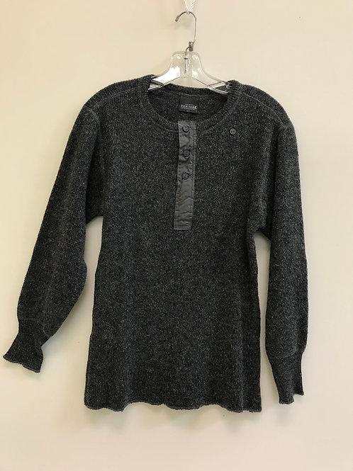 Heavy Long Sleeve Wool Henley Shirt