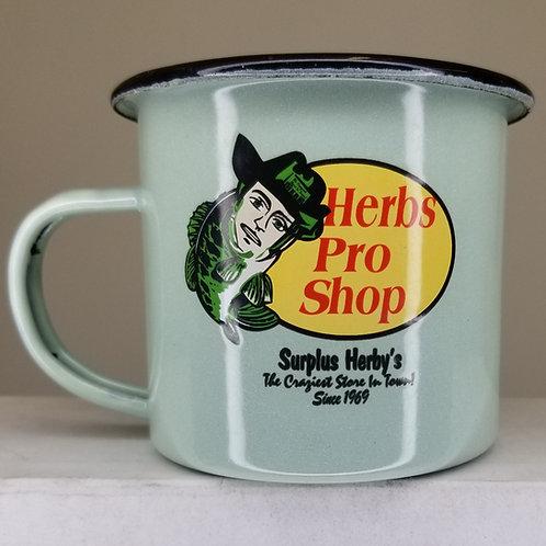 Enamel Mug Herb's Pro Shop