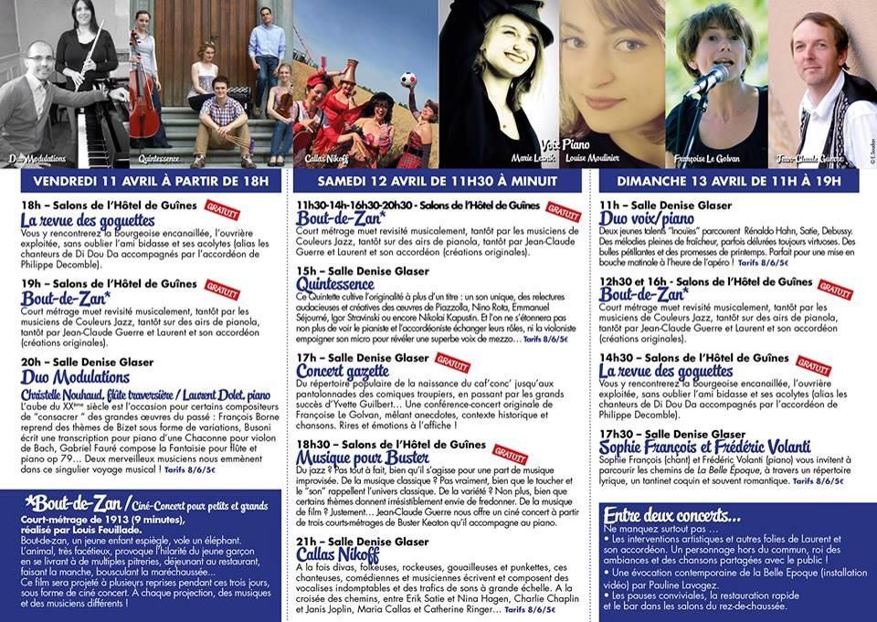 Programme Festival Le bel avril 2014