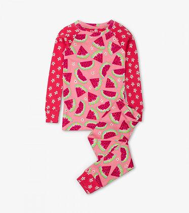 HATLEY Watermelon Slices Organic Cotton Raglan Pajama Set