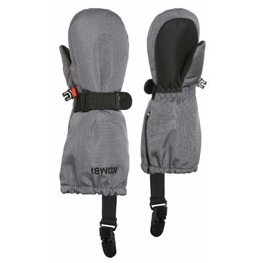 KOMBI Crazy Cariboo Mittens with clips GREY