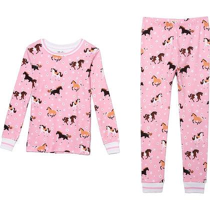 HATLEY FROLICKING HORSES ORGANIC COTTON Pajama Set