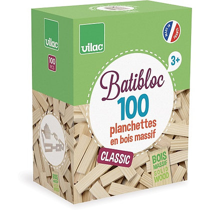 Wood Set 100 pcs, Natural By Vilac