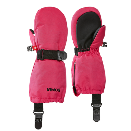 KOMBI Crazy Cariboo Mittens with clips WILD PINK