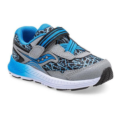 SAUCONY RIDE 10 JR GREY/BLUE&BLACK
