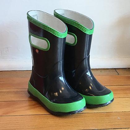 BOGS rain boots navy/green