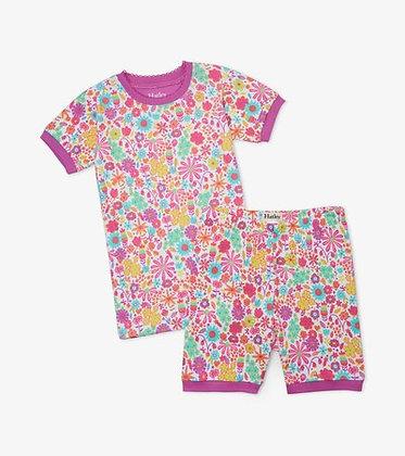 HATLEY MINI FLOWERS Organic Cotton Short Pajama Set