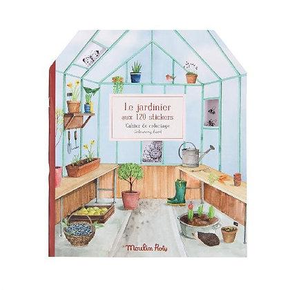 Le Jardinier - Sticker Book By Moulin Roty