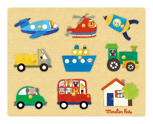 Popipop - transport puzzle  By Moulin Roty
